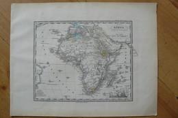 Afrique - Belle Carte De 1871 - Stieler / Giusto Perthes (voir Description) - Cartes Géographiques