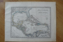 Amérique Centrale & Antilles - Belle Carte De 1871 - Stieler / Giusto Perthes (voir Description) - Geographical Maps