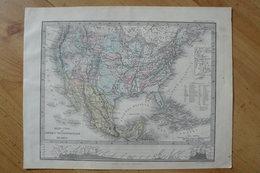 Etats-Unis (USA) Et Mexique - Belle Carte De 1871 - Stieler / Giusto Perthes (voir Description) - Geographical Maps