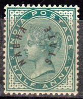 ETAT PRINCIER DE L'INDE - NABHA - NABHA STATE - Protectorat Britannique - 1885 N° 1 - Neuf Sans Gomme - Nabha