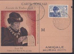 Carte Federale Journée Du Timbre De 1945 Auchel - France