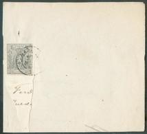 N°22 - PETIT LION 1 Centime Gris, TB Margé, Obl. Dc GAND 29 Mars 18(67) Sur Imprimé Sous Bande (partielle).  Rare - 1281 - 1866-1867 Petit Lion (Kleiner Löwe)