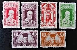 EFFIGIES DIVERSES 1943/44 - NEUFS * - YT 286/91 - Indochine (1889-1945)