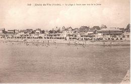 (85) Vendée - CPA - Saint-Gilles Croix-de-Vie - La Plage à Haute Mer Vue De La Jetée - Saint Gilles Croix De Vie