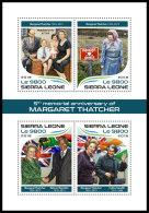 SIERRA LEONE 2018 MNH** Margaret Thatcher Indira Gandhi Nelson Mandela M/S - OFFICIAL ISSUE - DH1821 - Famous Ladies