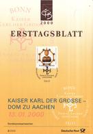 West-Duitsland - Ersttagsblatt - 2/2000 - 1200 Jahre Aachener Dom - Michel 2088 - [7] West-Duitsland