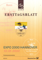 West-Duitsland - Ersttagsblatt - 3/2000 - Weltausstellung EXPO 2000, Hannover - Michel 2089 - [7] West-Duitsland