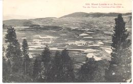 POSTAL     MONT LOUIS Y SU ENTORNO  -FRANCIA VISTA DESDE PENTES DU CAMBRAS  (VUE DES PENTES DU  CAMBRAS) ALT.2750 M - Francia
