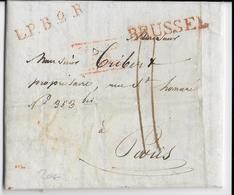 BELGIQUE HOLLANDAISE - 1829 - LETTRE De BRUXELLES (BRUSSEL) => PARIS - 1815-1830 (Dutch Period)