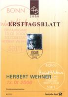 West-Duitsland - Ersttagsblatt - 6/2000 - 10. Todestag Von Herbert Wehner - Michel 2092 - [7] West-Duitsland