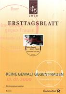 West-Duitsland - Ersttagsblatt - 7/2000 - Keine Gewalt Gegen Frauen - Michel 2093 - [7] West-Duitsland