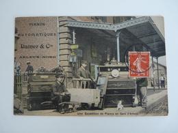 59 RARE ++++ ARLEUX PIANOS AUTOMATIQUES DAMEZ & CIE UNE EXPEDITION DE PIANO EN GARE D ARLEUX 1907 ANIMEES - Arleux