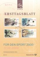 West-Duitsland - Ersttagsblatt - 8/2000 - Sporthilfe: Sport Und Frieden - Michel 2094-2097 - [7] West-Duitsland