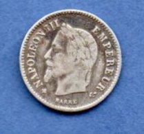 Napoléon III  ---  20 Centimes 1867 BB - état  TB - France