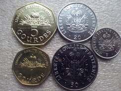 Haiti Set :1,5 Gourdes ; 5,20,50 Centimes    1995-2013    UNC - Haïti