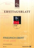 West-Duitsland - Ersttagsblatt - 12/2000 - 75.Todestag Von Friedrich Ebert - Michel 2101 - [7] West-Duitsland