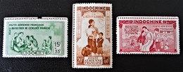 PROTECTION DE L'ENFANCE INDIGENE 1942 - NEUFS * - YT PA 20/22 - MI 263/65 - BORDS DE FEUILLES - Indochine (1889-1945)