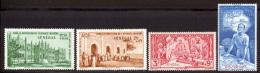 Senegal PA 1942 Yvert 18 / 21 ** TB PEIQI Bord De Feuille - Poste Aérienne