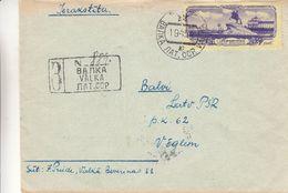 Lettonie - Russie - Lettre Recom De 1954 - Oblit Valka - Exp Vers Balvi - Peter I - Cartas