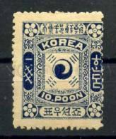 030559 IMPERIAL KOREA MICHEL#4II 1895 MLH - Korea (...-1945)