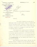 Brief Lettre - Crédit Lyonnais - Bruxelles à Gand Gent - Ivm Eigendom Aalst 1930 - Vieux Papiers