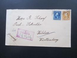 USA 1913 Registered Letter No 81606 Chicago über New York Nach Waldsee Württemberg. 6 Stempel - Briefe U. Dokumente