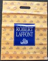 SAC ROBERT LAFFONT EDITEUR PLASTIQUE PUBLICITAIRE 34X14cm SACCUPLASTIKOPHILE COLLECTIONNEUR PUBLICITÉ - SITE Serbon63 - Autres Accessoires