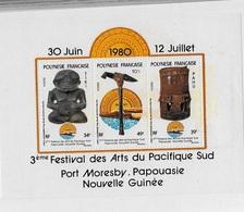 Bloc Feuillet Polynésie 3eme Festival Des Arts Du Pacifique - Blocs-feuillets
