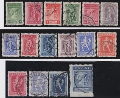 Greece    .    Yvert   .      179/194        .   O    .   Gebruikt   .   /     .   Cancelled - Griekenland