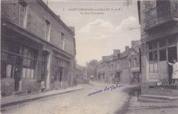 Cpa-35-saint Germain En Cogles-personnages-rue Principale-n°1 - Other Municipalities
