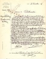 Brief Lettre - Gemeente Doel Naar Gent  1927 - Documentos Antiguos