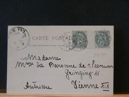 77/521 CP POUR AUTRICHE  1902  INTERPANNEAUX - 1900-29 Blanc