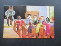 Jugoslawien 1935 Postkarte Katzen In Der Schule! 5-Farben-Frankatur!! Einschreiben Zagreb 1 No 13.333 Nach Königsee - 1931-1941 Kingdom Of Yugoslavia