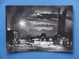 Cartolina Rovigo - Notturno Piazza Matteotti E Stazione Autocorriere - 1957 - Rovigo