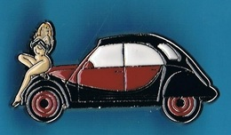 PIN'S //   ** 2 CV CITROËN / CHARLESTON / & PIN-UP ** . (© Qualité Collectors Série Limitée) - Citroën