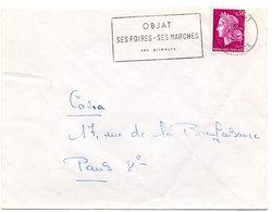 CORREZE - Dépt N° 19 = OBJAT 1968 = FLAMME Codée = SECAP  ' Foires Marchés Primeurs' - Postmark Collection (Covers)