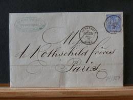 77/527   LETTRE  DE DUNKERQUE POUR PARIS  1877 - 1876-1898 Sage (Type II)