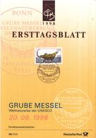 West-Duitsland - Ersttagsblatt - 26/1998 - UNESCO-Welterbe (VI): Grube Messel - Michel 2006 - UNESCO