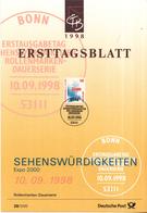 West-Duitsland - Ersttagsblatt - 28/1998 - Sehenswürdigkeiten (XXII) - Expo 2000 - Michel 2009 - [7] West-Duitsland