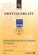West-Duitsland - Ersttagsblatt - 30/1998 - 300 Jahre Franckesche Stiftungen, Halle - Michel 2011 - [7] West-Duitsland