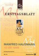 West-Duitsland - Ersttagsblatt - 31/1998 - 100.Geburtstag Von Manfred Hausmann - Michel 2012 - [7] West-Duitsland