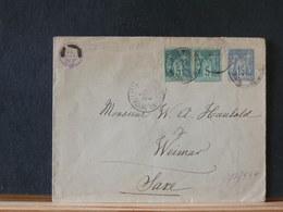 77/537    ENVELOPPE POUR SAXE    1891 COMPLEMENT  145 X 114 - 1876-1898 Sage (Type II)