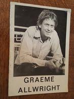 Programme De Graeme Allwright, Accompagné De Namana - Pub Champagne Heidsieck - Musique & Instruments