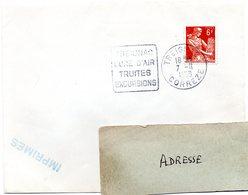 CORREZE - Dépt N° 19 = TREIGNAC 1958 = FLAMME DAGUIN ' Cure D'air Truites Excursions ' Sur ENVELOPPE ENTIERE - Marcophilie (Lettres)