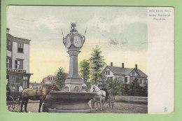 BROCKTON : Snow Memorial Fountain, 1910. 2 Scans. - Etats-Unis