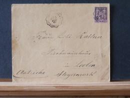 77/540    LETTRE  POUR AUTRICHE  1892 OBL. AMB. - 1876-1898 Sage (Type II)