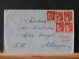 77/541   LETTRE  POUR ALLEMAGNE  1940  CROIX ROUGE - Brieven En Documenten