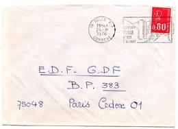 CORREZE - Dépt N° 19 = TULLE 1976 = FLAMME à DROITE = SECAP Illustrée 'c'est L'aimer / CARACTERES BATONS' - Postmark Collection (Covers)