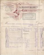 72 - SARTHE - LA CHARTRE SUR LE LOIR - FACTURE/LETTRE - 1932 - JOUET/POUPEES/ETS CLAUSSE COLIN - 1900 – 1949