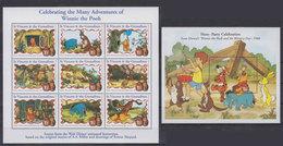 St. VINCENT 1998 - Disney Winnie Pooh - Mi 4349-57 + B454; CV=13.5 € - Fiabe, Racconti Popolari & Leggende